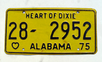 1975 ALABAMA HEART OF DIXIE STATE License plate tag nice expired plate
