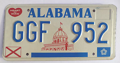 1977 ALABAMA HEART OF DIXIE License Plate Tag# GGF 952 Expired Graphic Dixie tag
