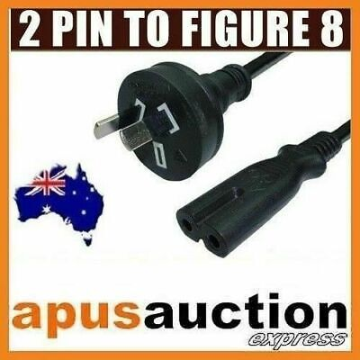 AU Mains Power Lead Cord Cable 2 Pin to Figure 8 Plug Australian 240V 7.5A