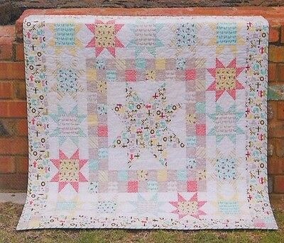 Starstruck - fabulous pieced quilt PATTERN - Tied with a Ribbon