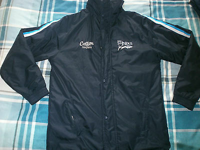 Sale  Sharks  Rugby  Union  Football  Jacket -  Small