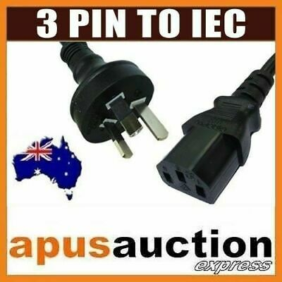 AU 3 Pin to IEC Kettle Cord Plug Australian 240V Power Cable Lead Cord