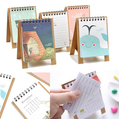 Hot 2017-2018 Cartoon Animal Desk Desktop Calendar Schedule Table Office Planner
