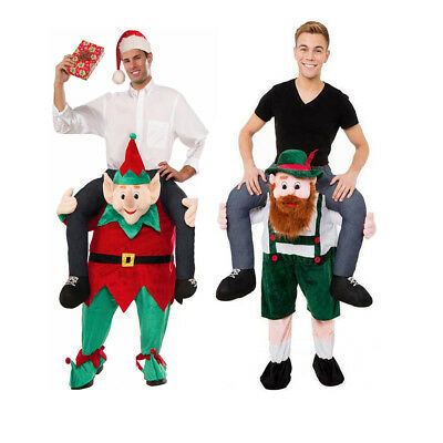 Shoulder Carry Me PiggyBack Ride On Fancy Dress Adults Party Costume Mens Outfit