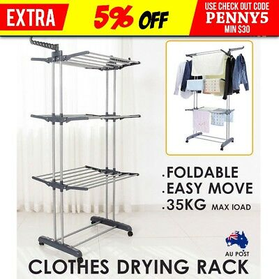 6 Tiers Foldable Clothes Airer Drying Rack Portable Laundry Indoor Garmen Hanger