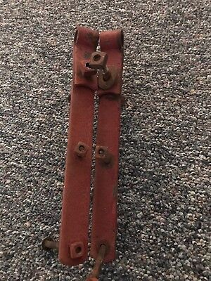 "2 ANTIQUE 12"" hand-forged STRAP HINGES, HEAVY DUTY, OLD BARN DOOR, FARM"