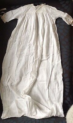 Antique Lace Victorian Christening Gown