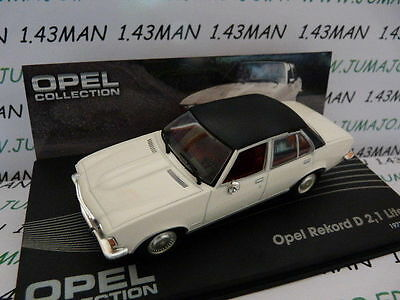OPE65 voiture 1/43 IXO eagle moss OPEL collection :Rekord D 1973/1977 2,1 litres