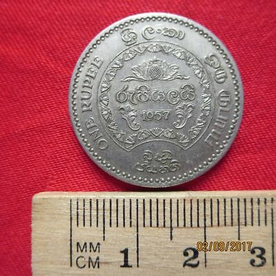 Sri Lanka - 1 One  Rupee 1957 - 2500  - I