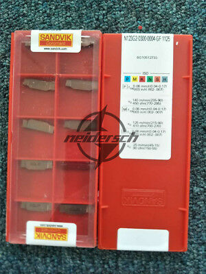 10pcs NEW Sandvik  N123G2-0300-0004-GF1125 Carbide Inserts