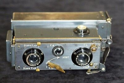 ANTIQUE 'VERASCOPE' STEREO FILM PLATE CAMERA No. 6b  ZEISS KRAUSS  LENSES c1908.