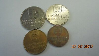 Slovakia coins as photo