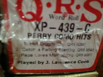 PERRY COMO HITS  3 Selections NEW LONG PLAY PIANOLA ROLL