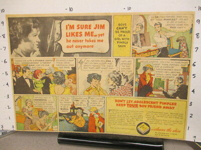 newspaper ad 1930s Fleischmann's YEAST acne JIM,Lifebuoy Rinso soap playing card