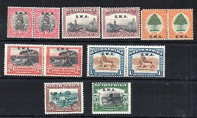 South West Africa 1927-28 SWA overprints mint MH WS6288