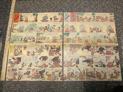 newspaper ad 1935 Mickey Mouse Silly Symphony Elmer Elephant (2) boxing gorilla