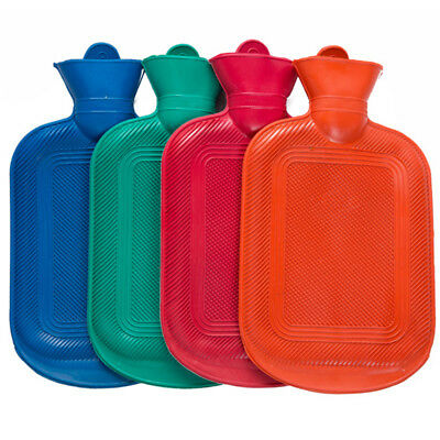 Large Rubber Hot Water Bottle Bag Warm Hand Foot Health Relax Body Winter NEW