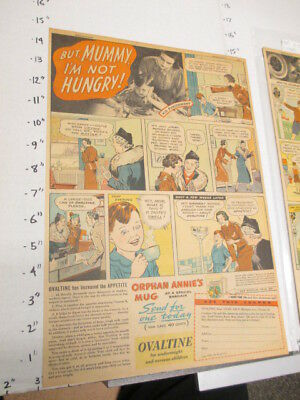 newspaper ad 1937 OVALTINE Little Orphan Annie drink mix premium mug MUMMY