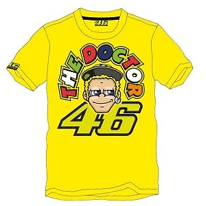 Valentino Rossi Vr46 T Shirt Yellow The Doctor Moto Gp New Genuine