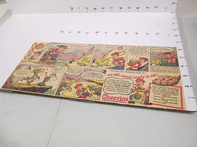 newspaper ad 1940s cereal box premium CHEERIOS JOE mountain climber goat comic