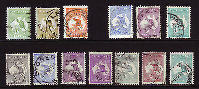 AUSTRALIA. USED SELECTION. 1/2d to 2/-.