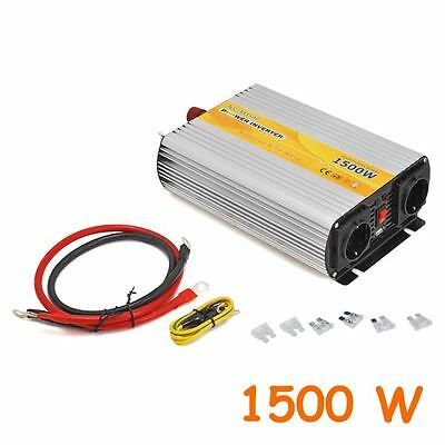 Inverter With Outlet Sinusoidal Modified 1500W Da 12V A 220V And Usb Fr670M1500