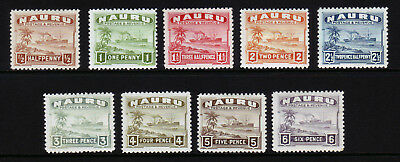 NAURU. SG 26a-34a, 1/2d to 6d. MOUNTED MINT.