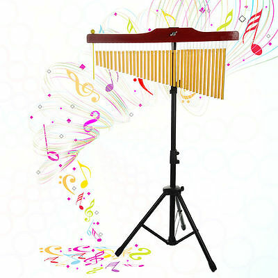 New 36-Tone Bar Chimes Single-row Wind Chime Percussion Instrument with Stand