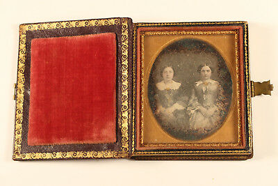 Beautiful Daguerreotype Siblings Portrait Unique Prob. Philadelphia US c. 1850