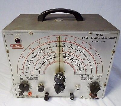 Vtg EICO 360 TV FM Signal Generator Halloween Mad Scientist  Decor Prop WORKS