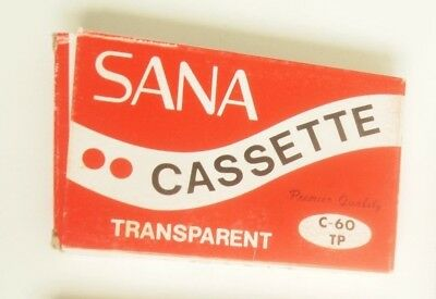 Sana C-60 Cassette Tape Vintage Retro New & Sealed