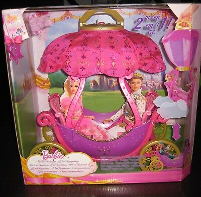 Barbie 3 Musketeers Magical Air Balloon Carriage 2 in 1 play set.  New NRFB