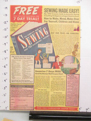 newspaper ad 1944 SEWING Complete Book mail offer WWII American Weekly
