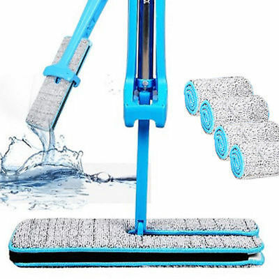 Hands Free Mop Washing Double Sides Flat Mop Cleaning Tool Home Cleaner Blue New