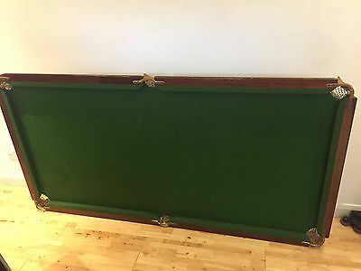Fold Up Vintage Riley Snooker / Pool Table (190x98cm) inc extras