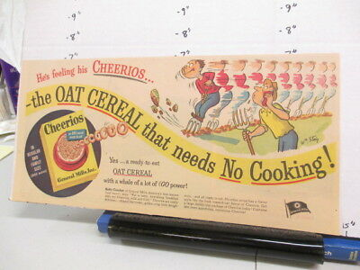newspaper ad 1951 CHEERIOS cereal box comic General Mills pogo stick pitchfork