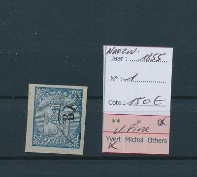 LH22249 Norway 1855 coat of arms 4sk classic lot used cv 150 EUR