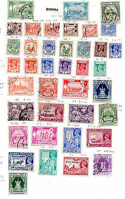 BURMA -  USED - 2 PAGES.  cat £38. .