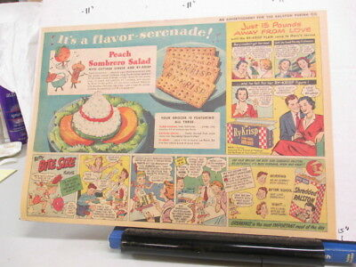 newspaper ad 1951 Ralston RY-KRISP cracker cereal box sombrero US Air Force