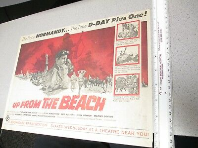newspaper ad 1965 movie theater UP FROM THE BEACH Cliff Robertson Irina Demick