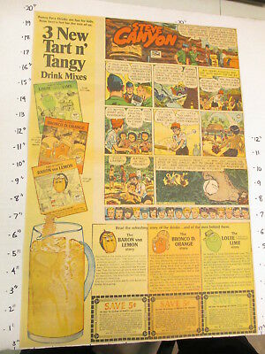 newspaper ad 1966 Pillsbury FUNNY FACE Baron Von Lemon Bronco Orange Louie Lime