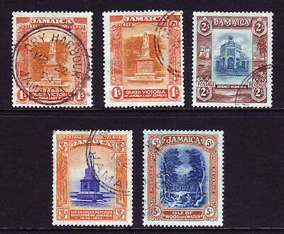 JAMAICA. SG 102-105, 1/- to 5/-. GOOD/FINE USED.