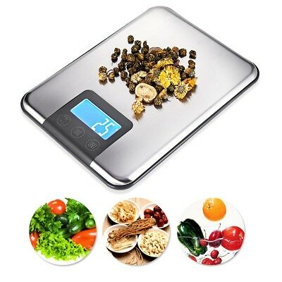 Digital LCD Kitchen Scales 15kg Stainless Steel Aquatronic Food Weighing Scale