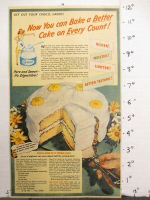 newspaper ad NYT 1945 WWII CRISCO  shortening baking cake recipe Breath O Spring