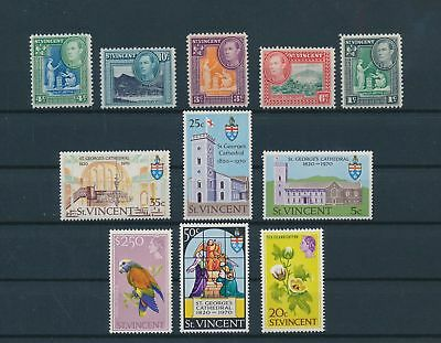 LH20372 St Vincent nice lot of good stamps MNH