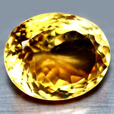 13.02 Ct Aaa! Natural! Golden Yellow Brazilian Citrine Oval
