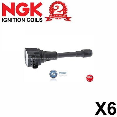 6 X Ngk Pencil Ignition Coil Pack Set U5119 Stock No 48347
