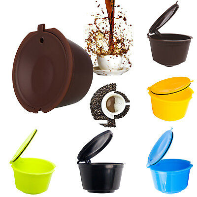 Brown Refillable Coffee Capsules Pods K-cup For Nescafe Dolce Gusto Reusable UP