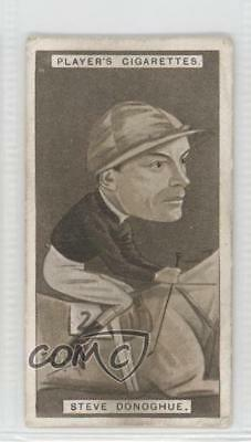 1925 Player's Racing Caricatures Tobacco Base #12 Steve Donoghue Card 1m8