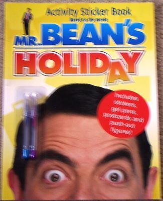 Collectors Mr Bean's Holiday Activity Sticker Book Includes Stickers,Pens Etc